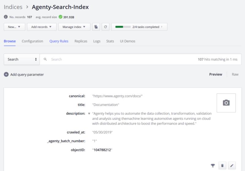Algolia Search Indices