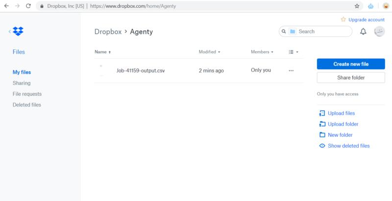 Dropbox CSV file