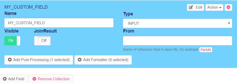 Add custom field in web scraping agent