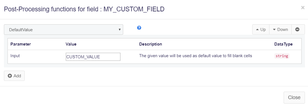 Set custom field value in web scraping agent