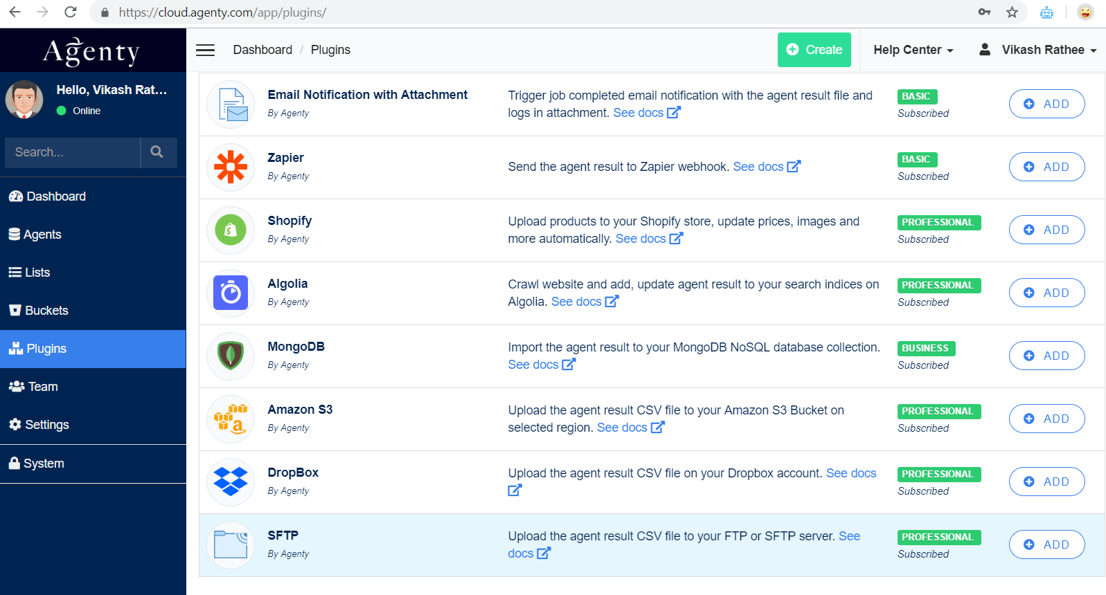 SFTP plugin