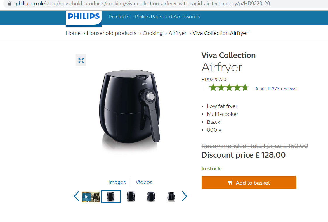 Philips UK price comparison