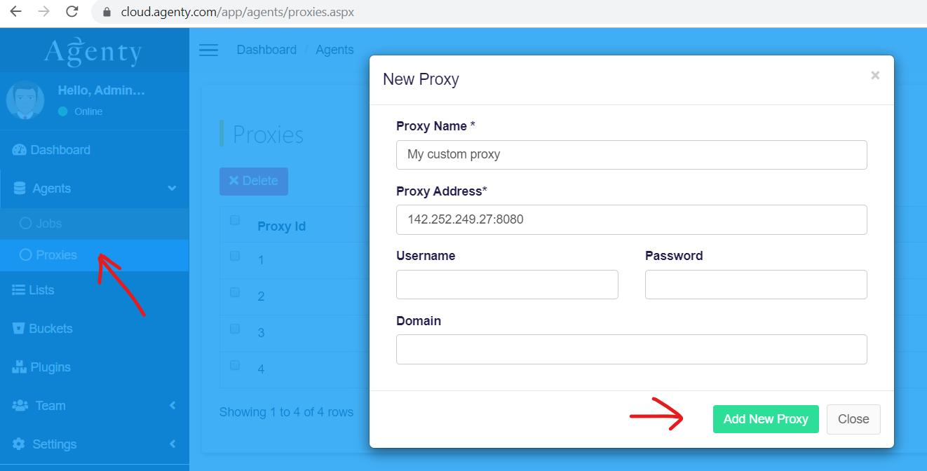 Add new proxy