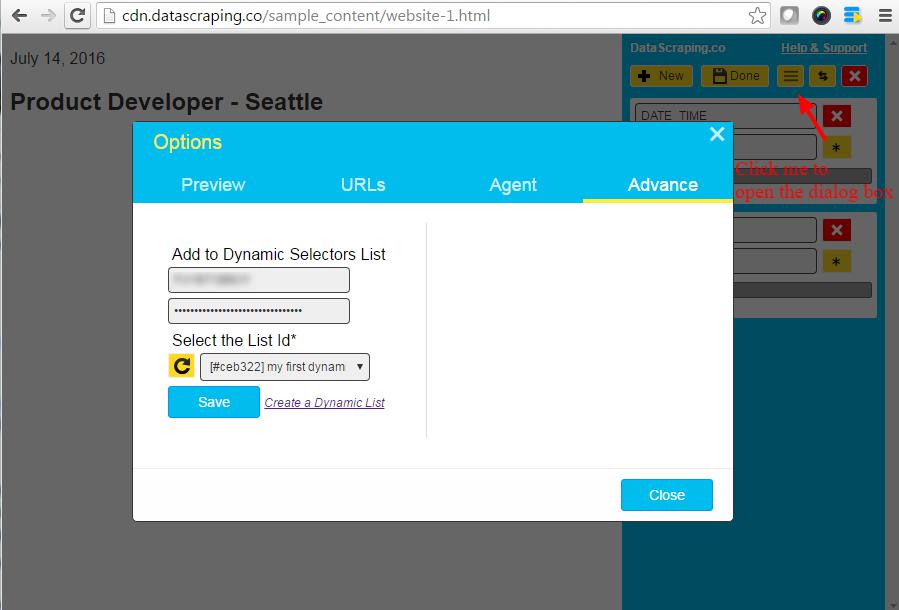 add selectors to dynamic scraper list