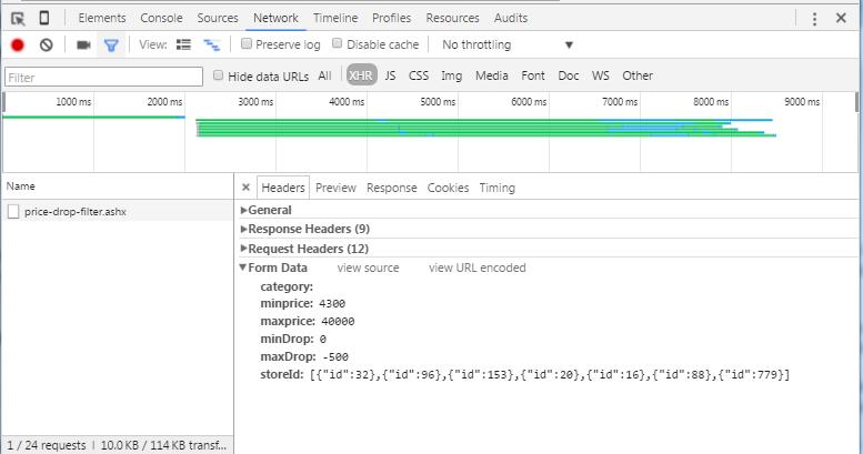 ajax request in infinite website scraping