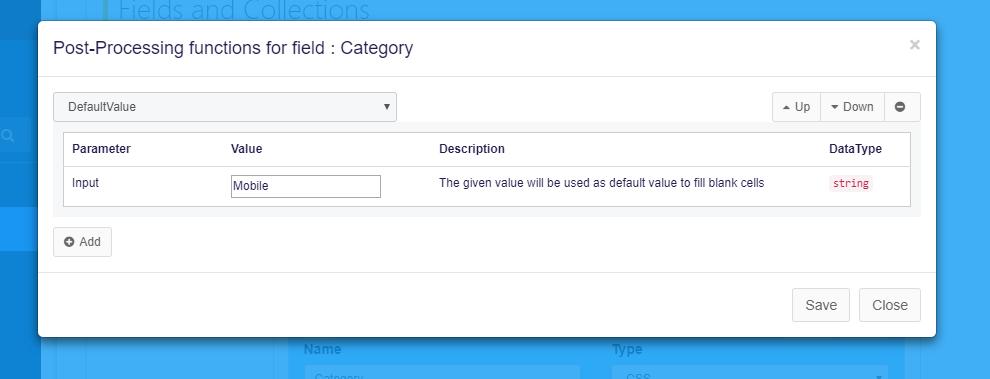 default value function in agenty