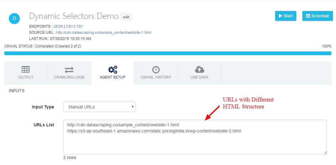 dynamic selector in website scraping