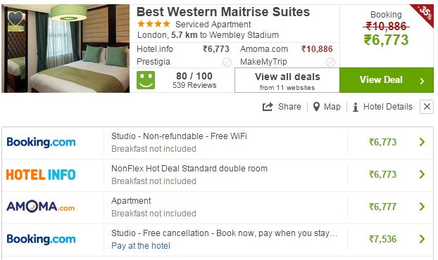 scraping price for hotel price comparison