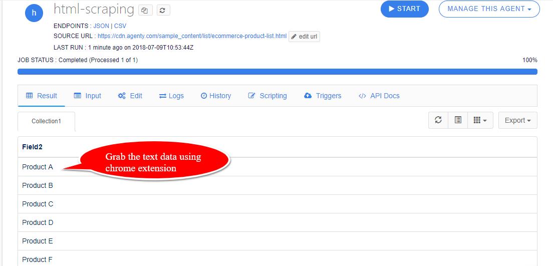 html scraping tool