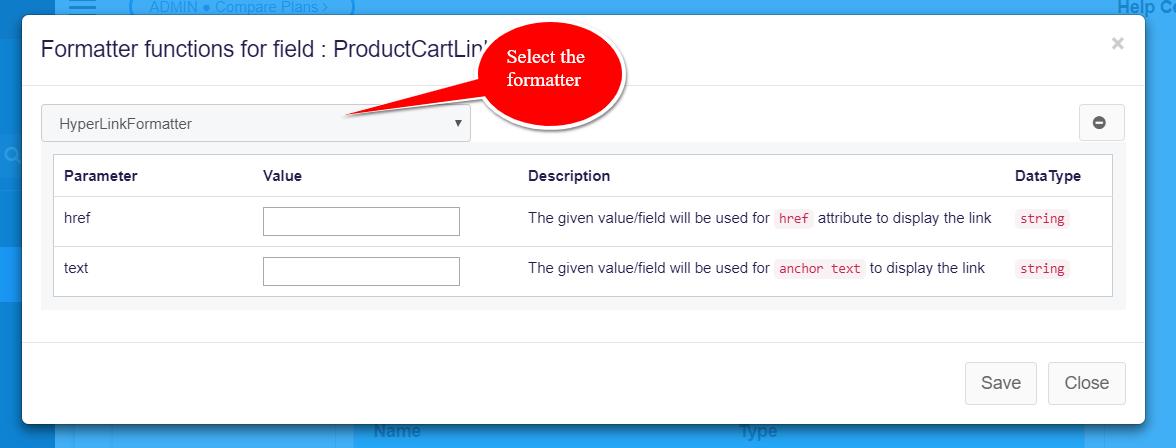 hyper link formatter box