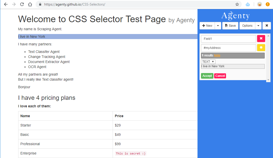 web scraping using id selector