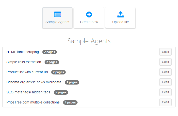 sample scraping agents online