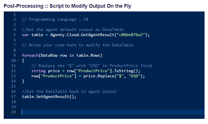 scripting to modify web scraped data